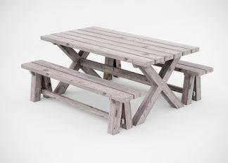 Hyttebord med benker