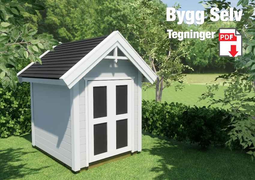 Byggetegninger for elegant utebod mini