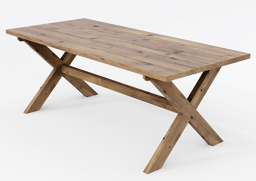 Spisebord i tre - Beiset