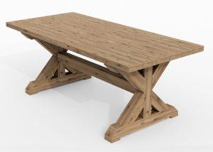 Elegant spisebord i heltre gran