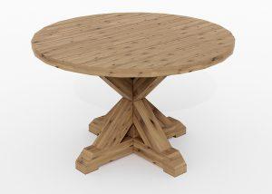 Elegant rundt spisebord i heltre gran