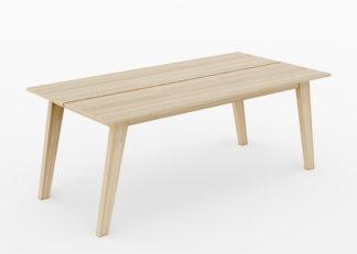 Kviteberg spisebord i eik