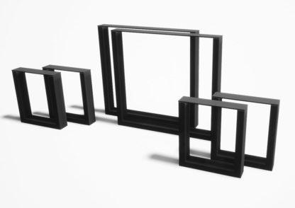 Produktbilde: Sett med bordben og benkben i stål