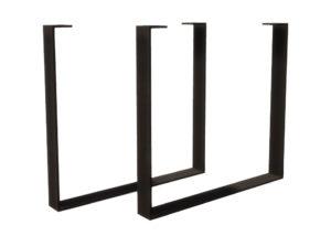Bordben i stål - Flattjern - Modell nr. 34