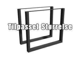 Bordben av metall (stål) tilpasset størrelse